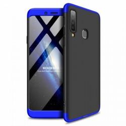 Husa Samsung Galaxy A9 -GKK 360 Front and Back Case Full Body Cover Negru cu Albastru