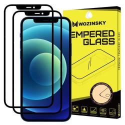Sticla securizata Iphone 12 PRO MAX - Wozinsky Full Glue , Full Coveraged x 2-margine neagra