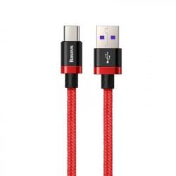 Cablu de date Baseus Purple Gold USB / USB-C Cable SuperCharge 40W- 2 M-Rosu