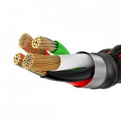 Cablu de date Baseus X-Shaped Lightning 100 cm-Negru