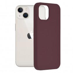 Husa Apple iPhone 13 Mini -Soft Edge Silicone Mov Pruna