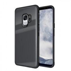 Husa cu spatele din sticlă securizata pentru Samsung S9-Gri