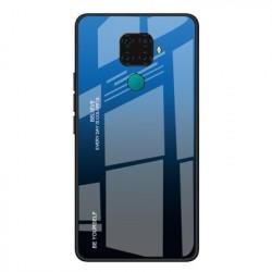 Husa Huawei Mate 30 Lite-Gradient Glass Durable Cover din sticla securizata 9H-Negru cu Albastru
