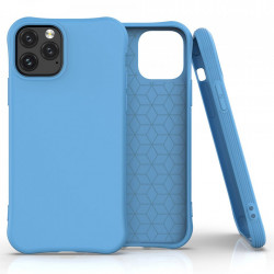 Husa Iphone 11 PRO -Soft Color Case flexible gel-albastra