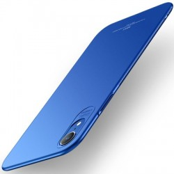 Husa iPhone XR-MSVII Simple ultra-subțire - culoare albastra