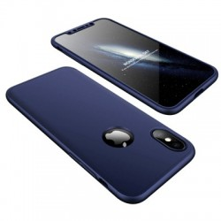 Husa Iphone XS /Iphone X -GKK 360 Front and Back Case Full Body Cover -Navy Blue
