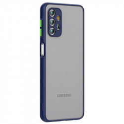 Husa Samsung Galaxy A32- Colored buttons case- Saphire Blue