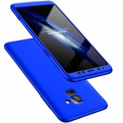 Husa Samsung Galaxy A8 -GKK 360 Front and Back Case Full Body Cover Albastra