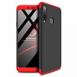 Husa Samsung Galaxy A9 -GKK 360 Front and Back Case Full Body Cover Negru cu Rosu