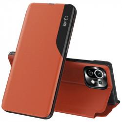 Husa Xiaomi Mi 11 Lite -Eco Leather View Case-Orange