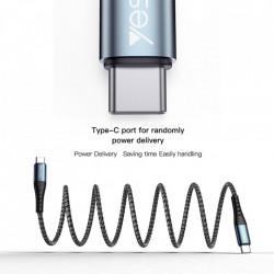 Cablu de date Type C la Type C Yesido Data Cable (CA-66) 1.2 M 60W