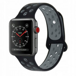 Curea Apple Watch 3 42 MM-Tech Protect Softband-Black/Gray