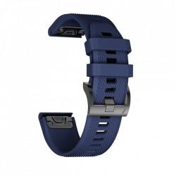 Curea Garmin Fenix 6X PRO -Tech Protect Smooth-Navy Blue