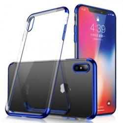 Husa Samsung Galaxy A40 -cu gel transparent Ultrathin-margine albastra