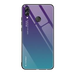 Husa Huawei P20 lite-Gradient Glass Durable Cover din sticla securizata 9H-green-purple