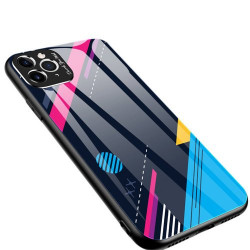 Husa Iphone 11 PRO MAX -Color Glass-cu sticla securizata- pattern 4