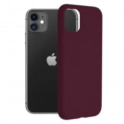Husa iPhone 11 -Soft Edge Silicone Plum