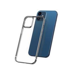 Husa Iphone 12 - Baseus Shining Case - rama Argintie
