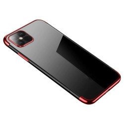 Husa Iphone 12 PRO MAX -Clear Color case gel-Margine rosie