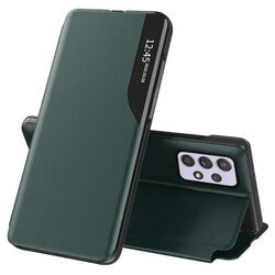 Husa Xiaomi Redmi Note 10/10s -Eco Leather View Case-Dark Green