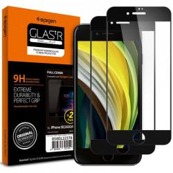 Sticla securizata Iphone SE 2020/Iphone 8/Iphone 7-Spigen Glass FC -2 bucati-margine neagra