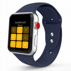 Curea Apple Watch 3 38MM-Tech Protect Iconband-Midnight Blue
