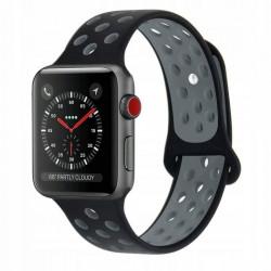 Curea Apple Watch 4 44 MM-Tech Protect Softband-Black/Gray