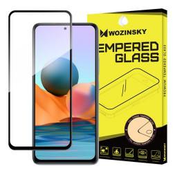 Folie sticla securizata Xiaomi Redmi Note 10 - Wozinsky Full Glue , Full Coveraged- margine neagra