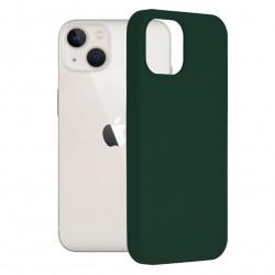Husa Apple iPhone 13-Soft Edge Silicone Dark Green