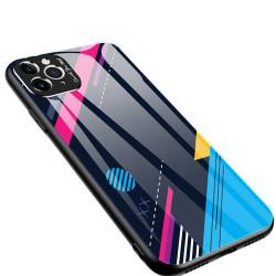Husa Iphone 11 PRO -Color Glass-cu sticla securizata- pattern 4