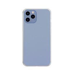 Husa iPhone 12 Pro Max -Baseus Frosted Glass Case cu margine flexibila -Transparenta