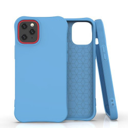 Husa Iphone 12 PRO MAX -Soft Color Case flexible gel-albastra