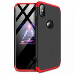 Husa Iphone XR-GKK 360 Front and Back Case Full Body Cover -Negru cu Rosu