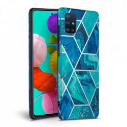Husa Samsung Galaxy A51 -Tech Protect Marble-Blue