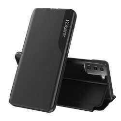Husa Samsung Galaxy S21 FE -Eco Leather View Case-Neagra
