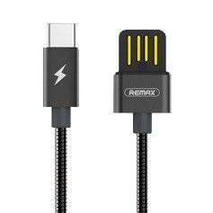 Cablu de date Remax Silver Serpent RC-080a -USB Type C -Negru-1 M