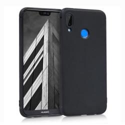Husa Huawei P20 Lite- Silicone Case Soft Flexible Rubber Cover-Black