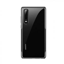 Husa Huawei P30 -Baseus Shining Case-transparenta cu negru