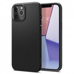 Husa Iphone 12 PRO / Iphone 12 -Spigen Liquid Air- Negru mat
