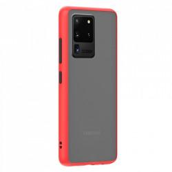 Husa Samsung Galaxy S20 Ultra- Colored buttons case- bumper rosu cu butoane negre