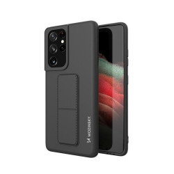 Husa Samsung Galaxy S21 Ultra 5G- Wozinsky Kickstand Case Silicone -Neagra