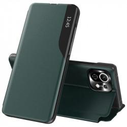 Husa Xiaomi Mi 11 Lite -Eco Leather View Case-Dark Green