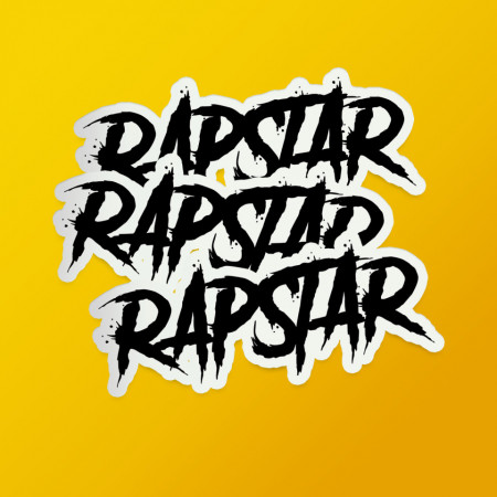 "Pack stickere ""Rapstar"" black"