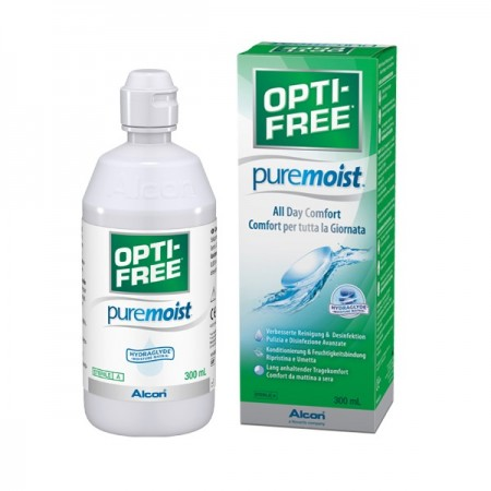 OPTI-FREE Pure Moist 300 ml (Con Portalenti)