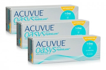 1 Day Acuvue Oasys With Hydraluxe For Astigmatism (90 Lenti) immagini