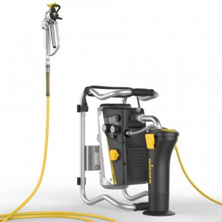 Pompa vopsit Wagner SuperFinish 23 Plus Airless Enamel Spraypack – Cart version, debit material 2,6 l/min., duza max. 0.023″, motor electric 1,3 kW