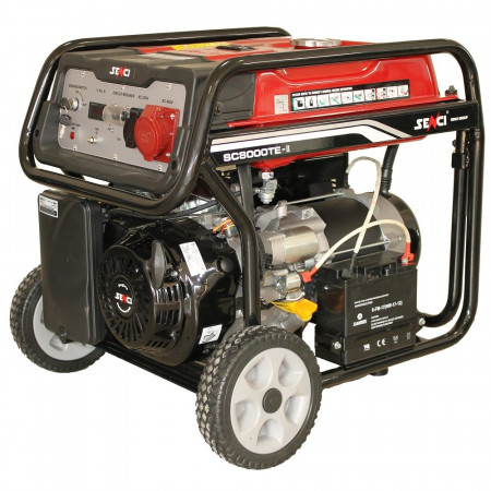 Generator SC-8000TE TOP, Putere max. 7.0 kw, 400V, AVR, benzina