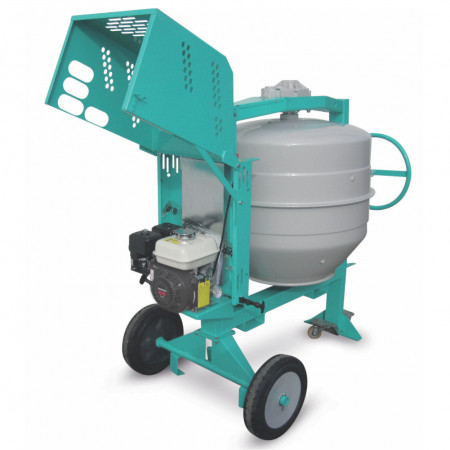 Betoniera IMER Syntesi 250, capacitate 235 l, motor benzina Worms EX170, 5,6 cp, diametru cuva 702 mm