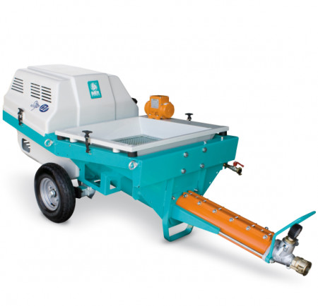 Masina de tencuit IMER Step 120 A, motor 400V debit maxim material 7 m³/h, distanta de pompare orizontal/vertical 60/30 m