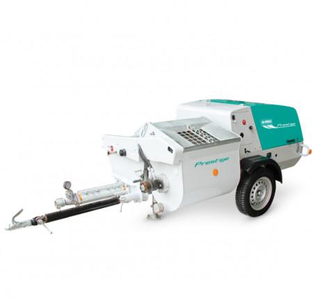 Pompa mortar traditional cu malaxor IMER PRESTIGE, debit material variabil 0 – 60 l/min., granulometrie 4 – 6 mm (2L6), motor diesel, 20 cp